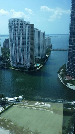 JW Marriott Marquis Miami: The view from our room in the 23 floor