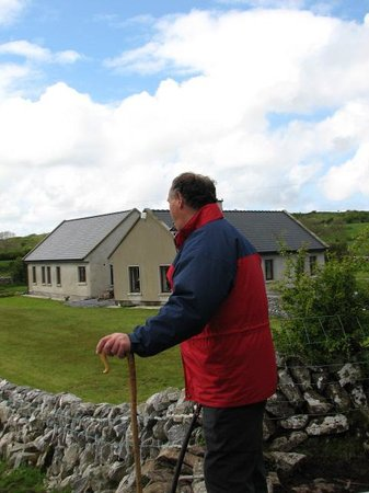 Caherconnell Stone Fort: Our friendly farmer