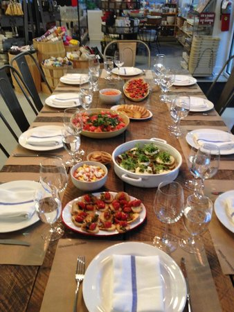 Heirloom Kitchen: Sit down after a fun time of learning and cooking
