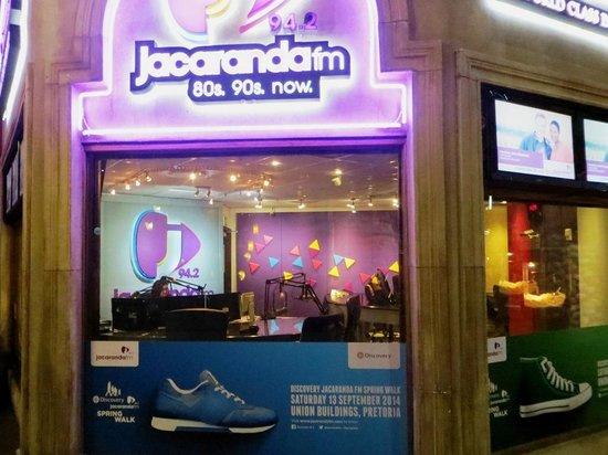 Montecasino : Jacarandafm broadcasting studio.