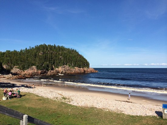 Black Brook Beach: From parking lot