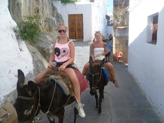 Lindos: donkey ride to the acropolis