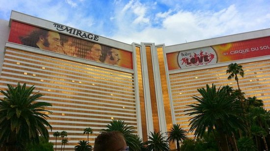 The Mirage Hotel & Casino: View from the back of the hotel