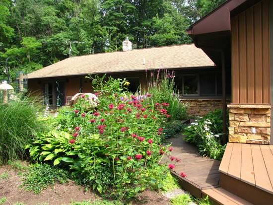 Lake Duluti Lodge: Gardens at our cottage