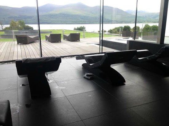 The Europe Hotel & Resort: Spa area with hot marble loungers