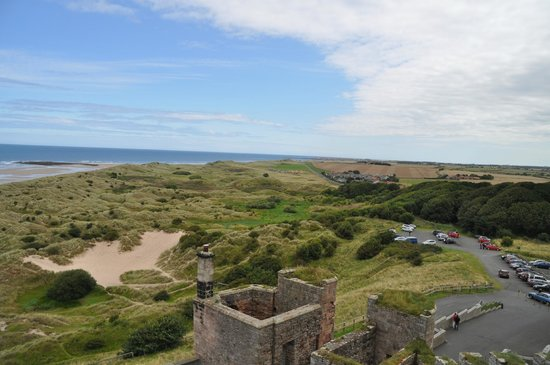 The Olde School House : Looking from Bamburgh Castle to Seahouses .