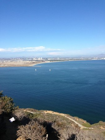 Cabrillo National Monument: city views, trail view below