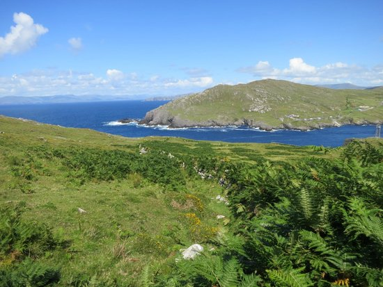 Dursey Island: A view over the mainland from the island