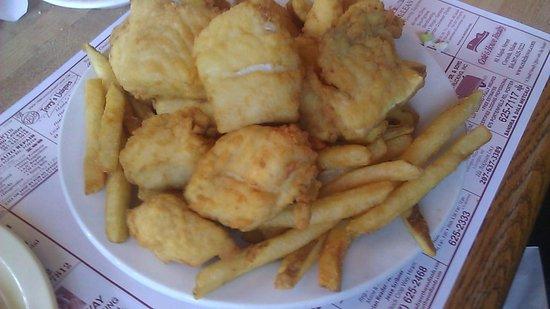 Bay Haven Lobster Two: Fried haddock pieces. Nice batter and not overly greasy.