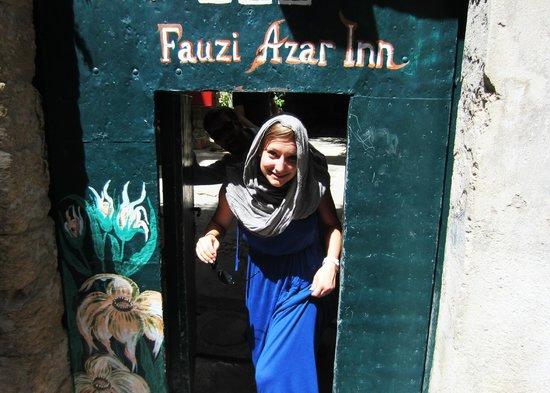 The Fauzi Azar Inn: The street entrance into the Hostel