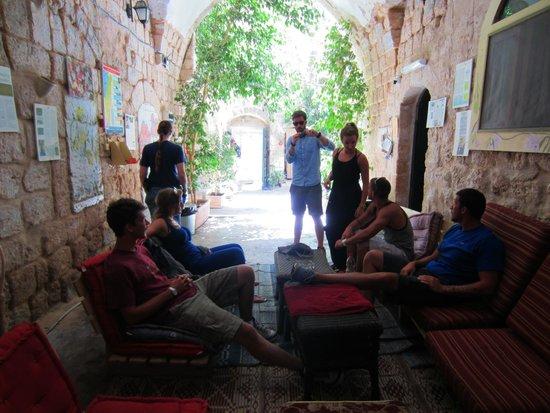 The Fauzi Azar Inn: Hang out area on the bottom floor