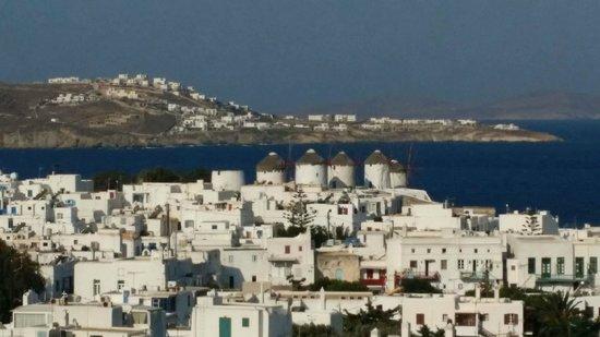 PortoBello Boutique Hotel: The view over Mykonos from PortoBello Hotel.