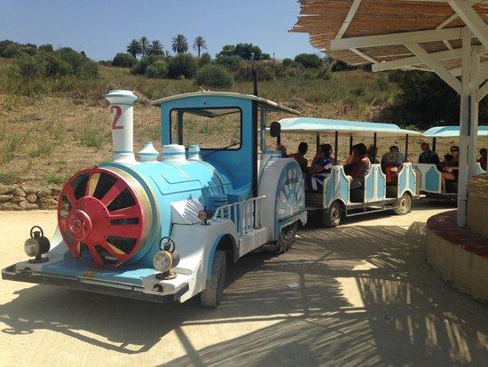 Club Lipari Hotel : le petit train pour aller à la plage
