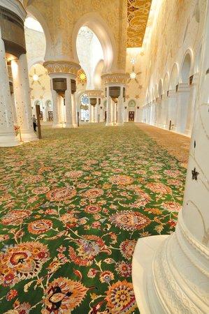 Mosquée Cheikh Zayed : The big carpet.