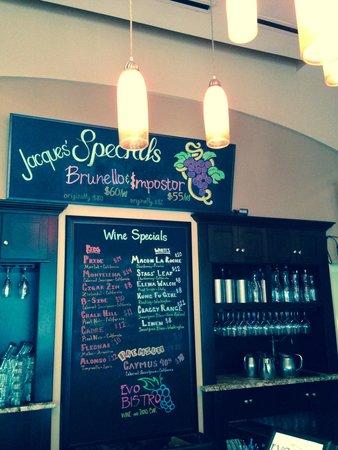Evo Bistro's Wine Specials