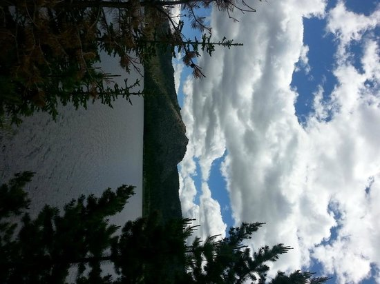 The Resort at Louis Lake: Sideways view of Louis Lake (sorry about that!)