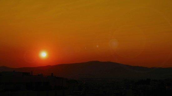 InterContinental Athenaeum: Sunset Over Acropolis