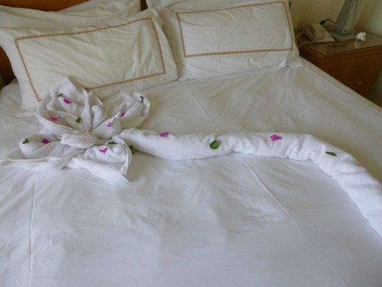 Le Royal Holiday Resort: Towel art