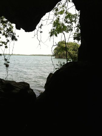 Haitises national park: a view from inside one of the cave areas