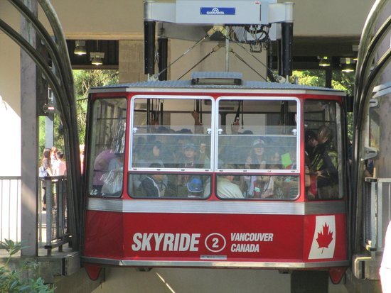 "Grouse Mountain Skyride: Gondola ""sky ride"" about to ascend."