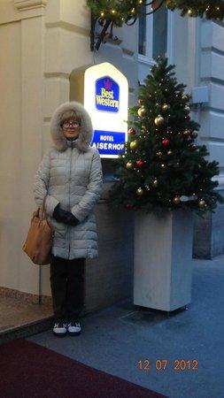Hotel Kaiserhof Wien: Вход в отель