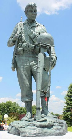 """Homage"" by artist Jim Brothers at The National D-Day Memorial."