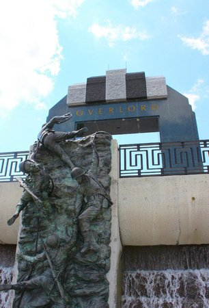 """Scaling the Wall"" by artist Jim Brothers at The National D-Day Memorial in Bedford, VA."