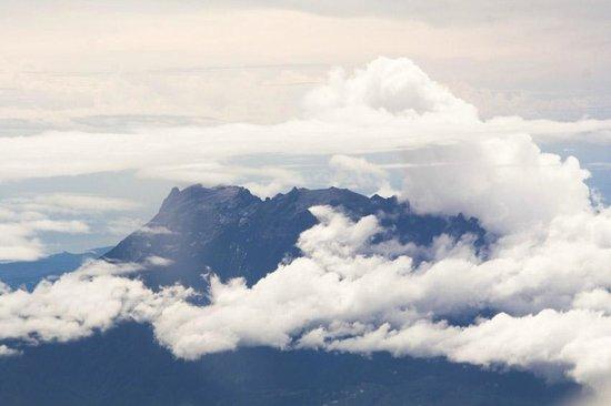 Mount Kinabalu: top of kinabalu out of an airoplane