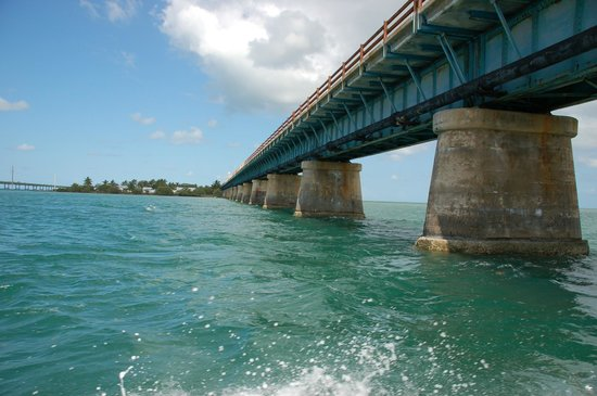 The Overseas Highway: Old Seven Mile from the ferry over to Pigeon Key