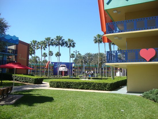 Disney's All-Star Movies Resort : Área interna do hotel