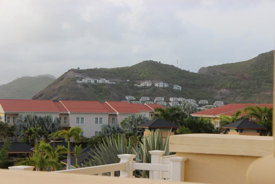 St. Kitts Marriott Resort & The Royal Beach Casino: View from my balcony and the St.Kitts mountains
