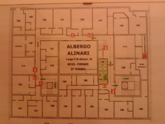Hotel Alinari: piantina stanze