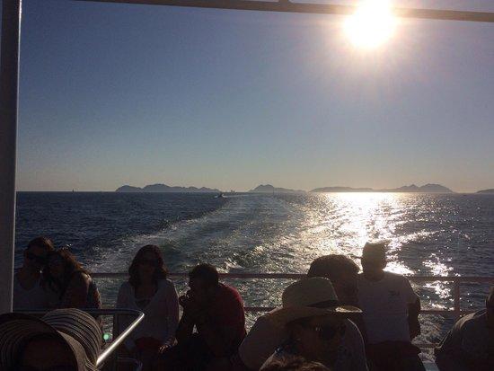 Playa de Rodas: Vistas desde el barco