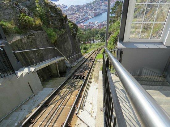 Mount Floyen and the Funicular (Floibanen): Bajada en Fonicular