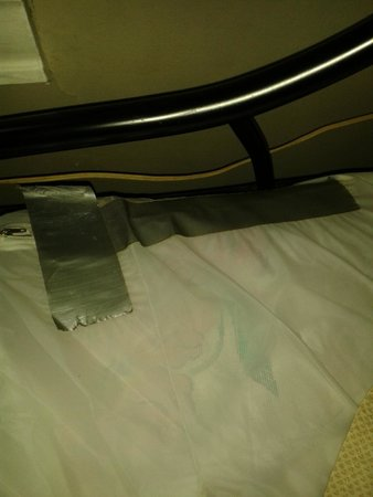 Stamford, Estado de Nueva York: Duct tape on plastic matress cover