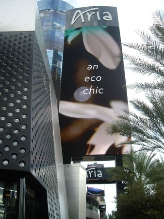 ARIA Resort & Casino: Aria from the Strip