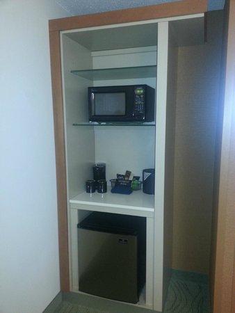 SpringHill Suites Detroit Auburn Hills : Microwave and Refigerator