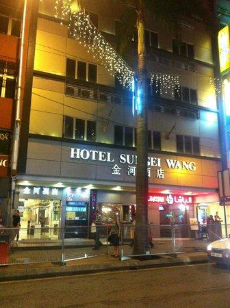 Sungei Wang Hotel: La facciata dell'albergo