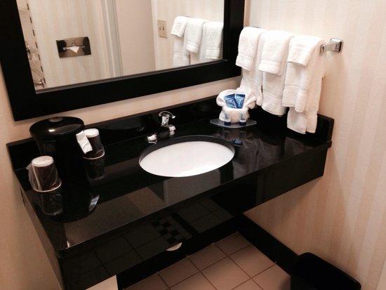 Fairfield Inn U0026 Suites Nashville At Opryland: Bathroom Sink (hair Dryer Is  In Closet