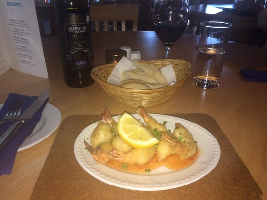 The Wharf: Gambas Con Gabardina - King Prawn Tails as a lovely tapas!