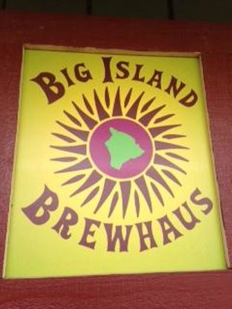 Big Island Brewhaus: Entry sign