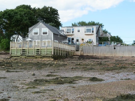 Seaside Beach Resort: View of the resort from the shore at low tide