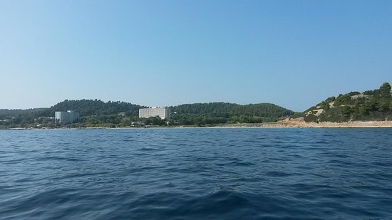 Athos Palace Hotel: Вид с моря
