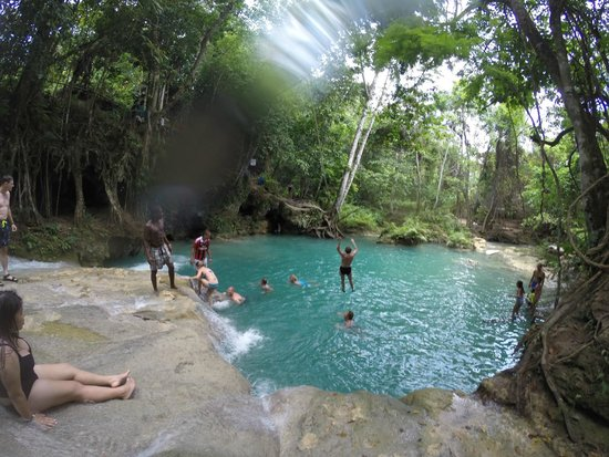 Courtney Taylor  Tours Jamaica: More Fun at Blue Hole