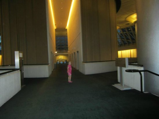 The Westin Peachtree Plaza: This is a common area where the elevators to the rooms were located.