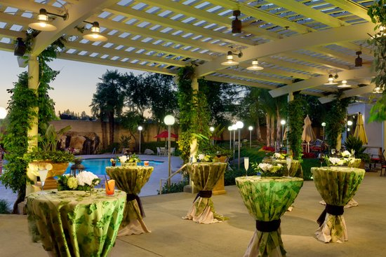 Cocktail Reception Under The Outdoor Trellis Picture Of