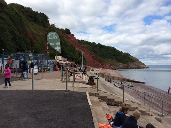 Babbacombe Beach - showing erosion at far side