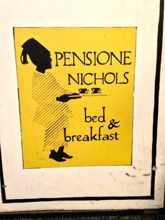 Pensione Nichols B&B : Sign