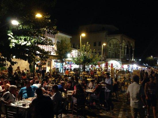 Souvlaki and Kebab restaurant shops in Monastiraki square.