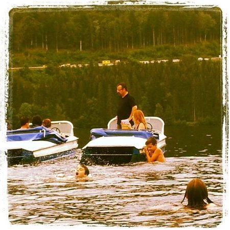 Swimming in Titisee Lake